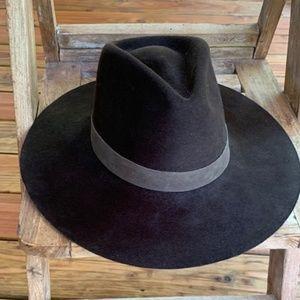 Janessa Leone dark chocolate wool hat
